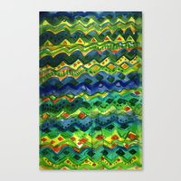 green pattern Canvas Prints featuring Green pattern by Nato Gomes