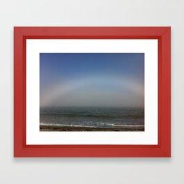 Foggy rainbow Framed Art Print
