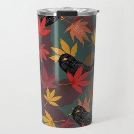 Autumn Blackbirds Travel Mug