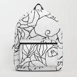 Graphic Blooms BW Backpack