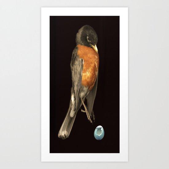 Robin and Egg Art Print