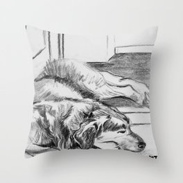 Bernie Naps Throw Pillow
