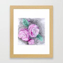 The pink roses Framed Art Print