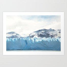 Glacier Giant Art Print