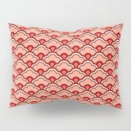 Deco Chinese Scallops, Peach, Rust and Cream Pillow Sham