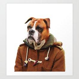 Boxer Dog Portrait Art Print