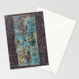 Seated Liberty Welcomes Huddled Masses Plaque Heald Square Monument Stationery Cards