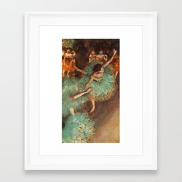 The Green Dancer 1879 By Edgar Degas | Reproduction | Famous French Painter Framed Art Print