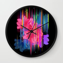 Night Blooming Bouquet Wall Clock