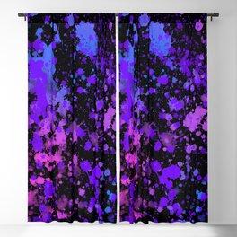 Colorful Neon Paint Splatter Blackout Curtain