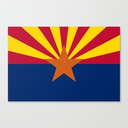 Arizona State flag, Authentic scale & color Canvas Print