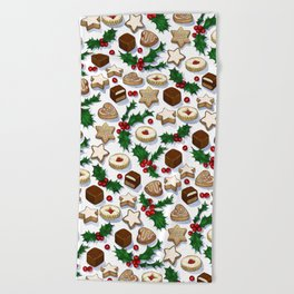 Christmas Treats and Cookies Beach Towel
