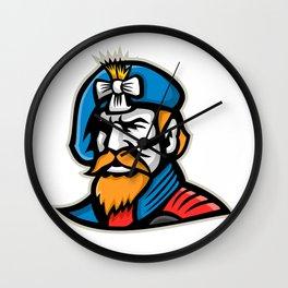 Highlander Mascot Wall Clock