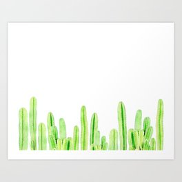 Wall of Cacti Art Print