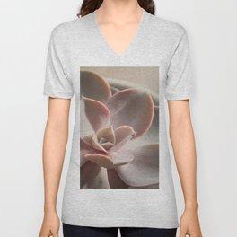Pink Echeveria #3 Unisex V-Neck