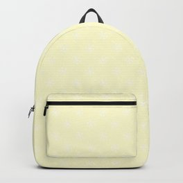 White on Cream Yellow Snowflakes Backpack