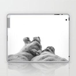 Lion Photography | Animal Art | Love | Black and White Laptop & iPad Skin