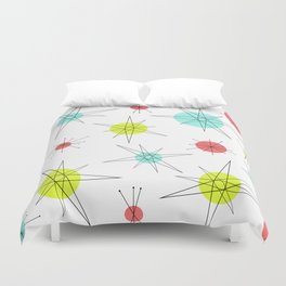 Atomic Age Colorful Planets Duvet Cover