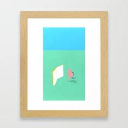 Exit Literature  Framed Art Print
