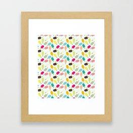 Popsicle Pattern Framed Art Print