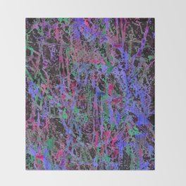 colourful splatters  Throw Blanket