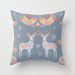 Nordic Winter Throw Pillow