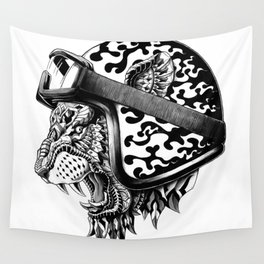Tiger Helm Wall Tapestry