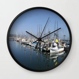 Harbor At Half Moon Bay Wall Clock