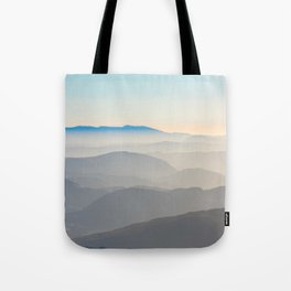 Erie Layered Mountains Landscape Tote Bag