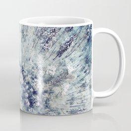 AERIAL. Frozen forest in winter Coffee Mug