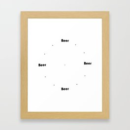 Beer Time Framed Art Print