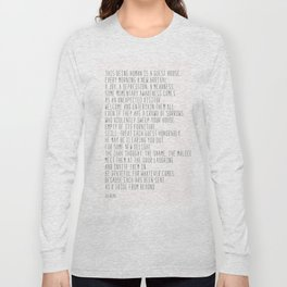 The Guest House #poem #inspirational Long Sleeve T-shirt
