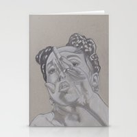 fka twigs Stationery Cards featuring FKA by Ous Art