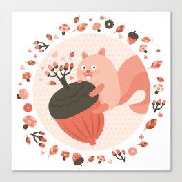 Pink Squirrel Canvas Print