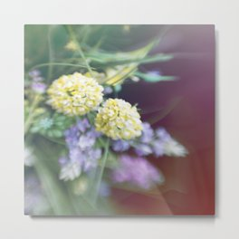 Garden blured flowers Metal Print