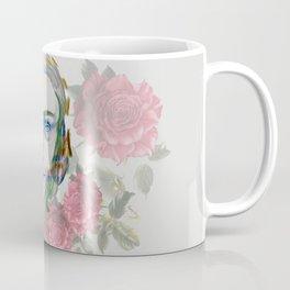 girl and flowers color Coffee Mug