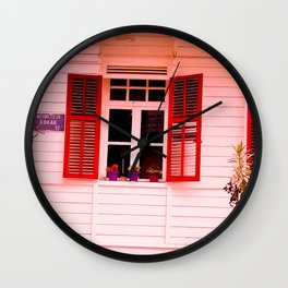 From my red window. Wall Clock