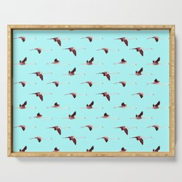 Flying Flamingos in Blue collab. with @rodrigomffonseca Serving Tray