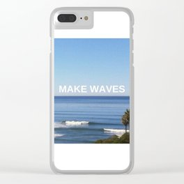 Make Waves Clear iPhone Case