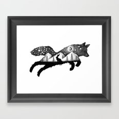 THE FOX AND THE HARE Framed Art Print