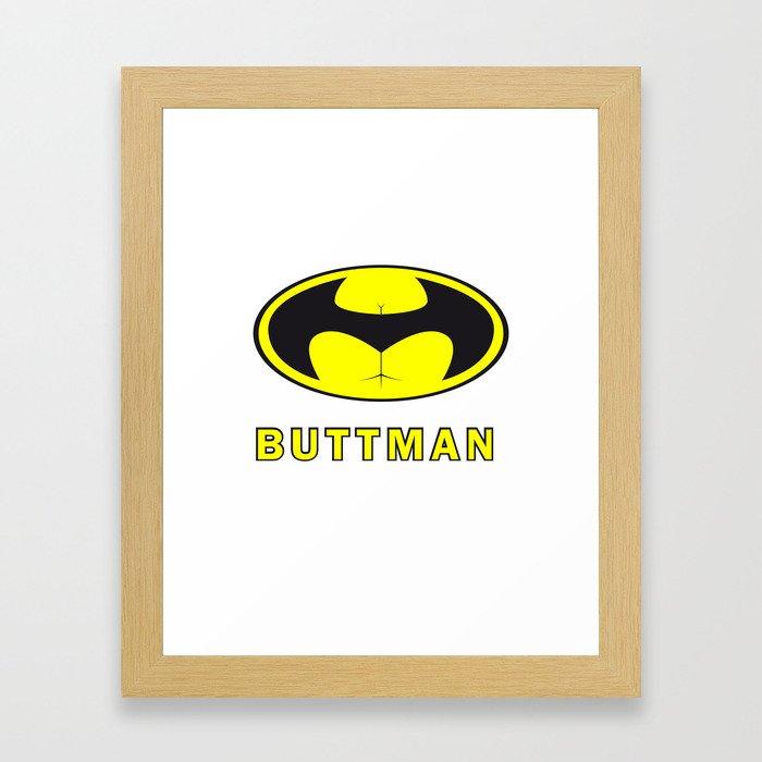 BUTTMAN Framed Art Print