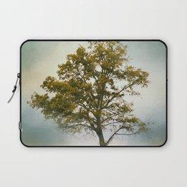 Bleached Sage Green Cotton Field Tree - Landscape  Laptop Sleeve