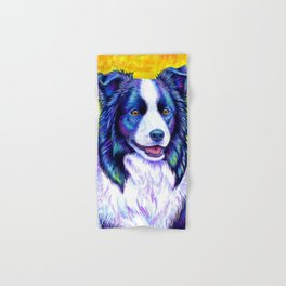 Colorful Border Collie Dog Hand & Bath Towel