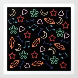 cool pattern Art Print