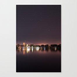 The Lake at Night Canvas Print