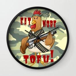 Eat More Tofu Wall Clock