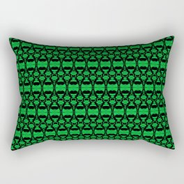 Dividers 02 in Green over Black Rectangular Pillow