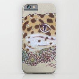 Leopard Gecko Flowers iPhone Case