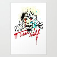 teen wolf Art Prints featuring Teen Wolf  by DIVIDUS