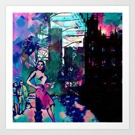 Dame From Buxom Street Art Print